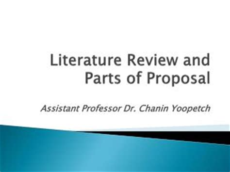 Developing and presenting research proposal